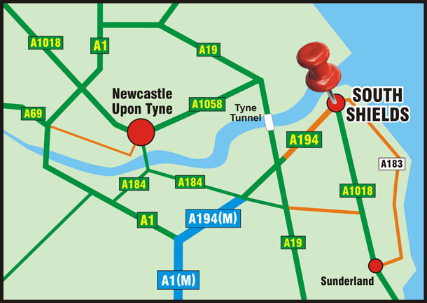 Getting to South Shields by road